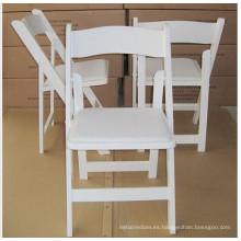 Silla blanca de Wimbledon de la venta caliente / silla de boda plegable de madera