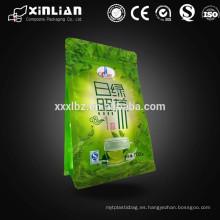 Papel de aluminio bolsa de polvo de té verde / bolsas de polvo de té verde