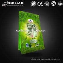Papier d'aluminium sac en poudre de sac vert poubelle / poche en poudre de thé vert