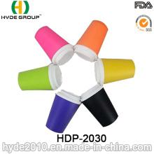 Taza de café plástica colorida libre de BPA (HDP-2030)