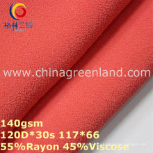 Dyeing Rayon Viscose Chiffon Fabric for Woman Garment (GLLML315)