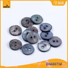 Natürlicher MOP Schwarzer Shell Button für Hemd BN80070
