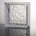 hot sale 190*190 decorative blue parallel glass block