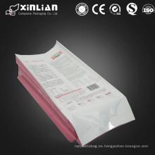 Material laminado bolsa de gusset lateral de grado alimenticio de plástico con válvula
