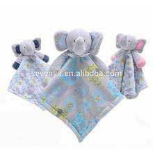 2018 popular personalized Carter's Elephant Cuddle Baby Snuggle Blanky Blanket cute baby towel,soft and comfortable,