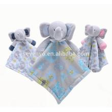 2018 popular personalizado Carter's Elephant Cuddle Bebê Snuggle Blanky cobertor toalha de bebê bonito, macio e confortável,