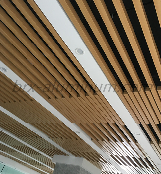 Wood Grain Aluminum Ceiling 2