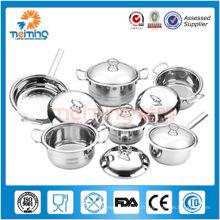 16pcs nouveaux casseroles et casseroles de cuisine d'acier inoxydable / cuisine