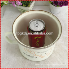 Factory customized enamel milk mug