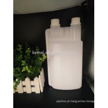 Garrafa de dosagem de plástico de medição de 1L Twin Neck com tampa inviolável