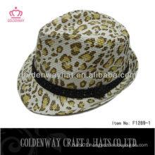 Leopard Fedora Hat