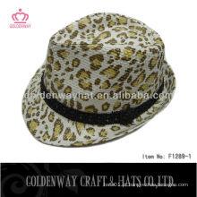 Chapéu Leopard Fedora