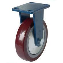 Roulette de PU fixée (rouge)