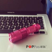 Poppas X1UV классический дизайн для поощрения подарков Telscopic Mini перезаряжаемый 365nm Nichia UV светодиодный фонарик