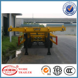 China 3axles Container Flatbed Truck Semi Trailer
