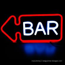 Acrylic board decoration Waterproof custom Led BAR neon sign, led wine bar neon signs for home bar