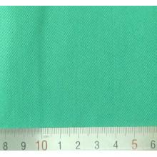 Tejido de sarga de algodón poliéster verde T/C