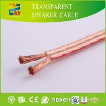 Transparent PVC Jacket High End Speaker Cable