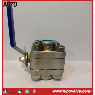 Кованая сталь 3-PCS резьба NPT плавающий шаровой кран