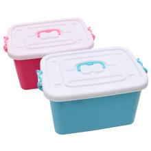 Modische Kunststoff Aufbewahrungsbox Container mit Griff (SLSN018)