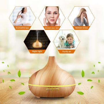 400ml Essential Oil Wood Glass Electric Oil Diffuser