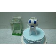 Football shape music birthday candle