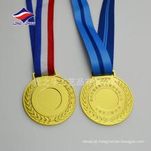 Medalhas de medalhas de medalhas douradas em branco