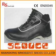 Черный стальной защитная обувь Дубай RS736