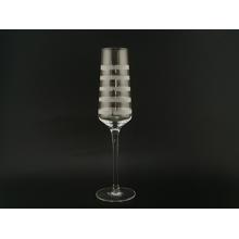 Klares Champagnerflötenglas mit Radierung
