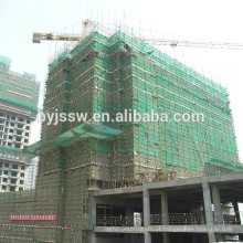 Redes de segurança para construção / rede de controle de poeiras e detritos