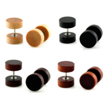 4 Farben erhältlich 10mm Organic Wood Body Jewelry Fake Plug