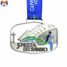 Новая серебряная квадратная благодарственная медаль
