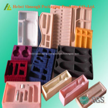 Flocking Plastic Cosmetic Tray Packing