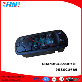 Power Window Switch Replacement 9438200097 9438200197 For Mercedes Benz Trucks