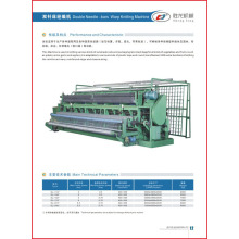 Double Needle Bar Raschel Bag Warp Knitting Machine