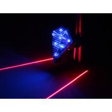 Recarregável, azul, bicicleta, lâmpada, parte traseira, luz, laser