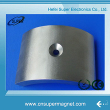 N52 Rare Earth Industrial Strong Arc Neodymium Magnet with Hole