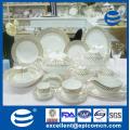 Latest Chinese Product Royal new bone luxury ceramic tableware 141PCS Dishes Set With Gold Rim