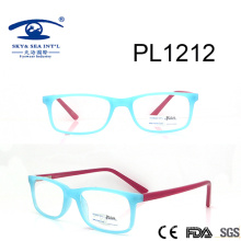 2017 Square Light Blue PC Optical Glasses (PL1212)