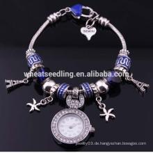 Großhandel Armband Sweet Romance Herzen und Effeil Turm Charme Armband FH-73