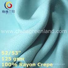 Tecido Crepe 100% Rayon para vestuário de vestido de primavera (GLLML435)