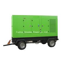 Générateur diesel silencieux monté par remorque de 12.5kVA à 625kVA