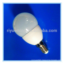 G45 E14 E27 5W Ceramic Mini globe LED Ball Lamp with CE ROHS Approved