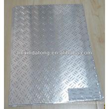 placa de aluminio en relieve para 3 barras antideslizantes
