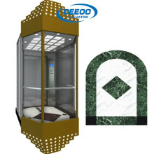 Elevador panorámico económico del pasajero con la pared de cristal