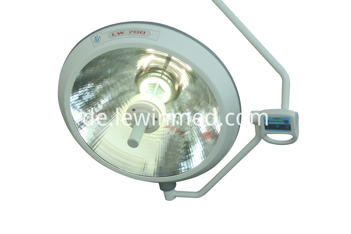 Mobile halogen shadowless lamp