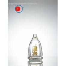 Bouteille en verre d'alcool chinois avec forme ronde