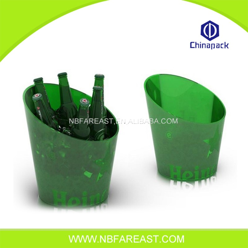 New design ice bucket clear plastic