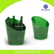 Nuevo diseño nuevo producto cubo de hielo de plástico transparente
