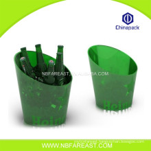 New design new product ice bucket clear plastic